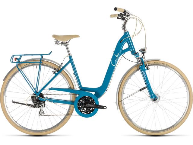 Cube Ella Ride Citybike Damer Easy Entry blå (2019) | City-cykler